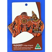 Bunabiri Fridge Australia Map Magnet - Hunters & Gatherers Land