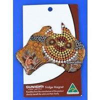 Bunabiri Aboriginal Art Fridge Australia Map Magnet - Colours of the Land