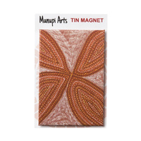 Munupi Aboriginal Art Tin Fridge Magnet - Kulama