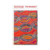 Warlukurlangu Aboriginal Art Tin Fridge Magnet - Dogwood Bean Tree
