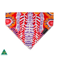Warlukurlangu Aboriginal Art Cotton Pet Bandana - Two Dogs Dreaming
