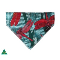 Sheryl Burchill Aboriginal Art Cotton Pet Bandana - Rainforest
