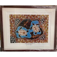 Stephen Hogarth Aboriginal Art Framed Limited Edition Print - Turtle & Hunters (No 3 of 5)