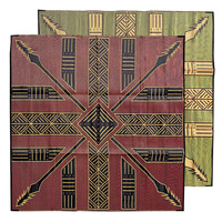 Aboriginal Recycled Mat - Large (3m x 3m) - Tutuni (Red/Black/Yellow)