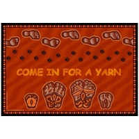 Aboriginal Recycled Door Mats - Yarn