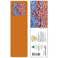 Tobwabba Aboriginal Art Recycled Leather Bookmark - Oyster Spirits