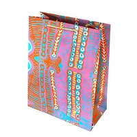 Aboriginal design Handmade Paper Giftbag (Large) - Two Dogs Dreaming