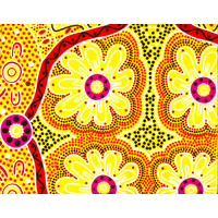 Warrina Aboriginal Art Wrapping Paper - Women's Business