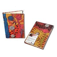 Handmade Aboriginal Art Paper Notebook - Travelling Through Country