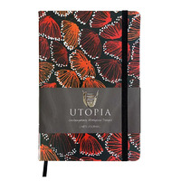 Utopia Aboriginal Art PU Leather A5 Ruled Journal - Gum Blossums