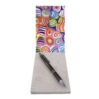 Utopia Aboriginal Art Small Notepad - Soakage 2