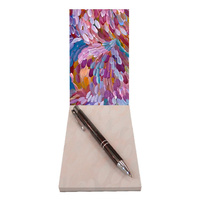 Utopia Aboriginal Art Small Notepad - Leaves (Multi Purple)