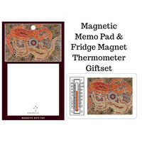 Tobwabba Aboriginal Art Magnetic Memo Pad 2pce Giftset - Male & Female Goannas