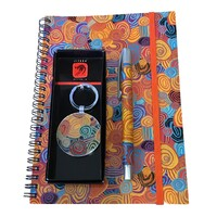 Jijaka Aboriginal Art 3pce A5 Notebook Set - Firestones (Purple)