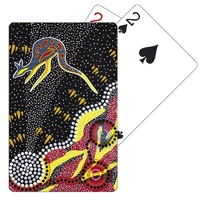Tobwabba Aboriginal Art Plastic Coated Playing Cards - Journey of the Coastal Kooris