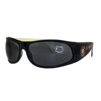 Aboriginal Art Sunglasses - Honey Ants (Black Frames)