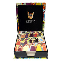 Utopia Aboriginal Art Boxed Ceramic Coaster Set (4) - Atham-anaty Story