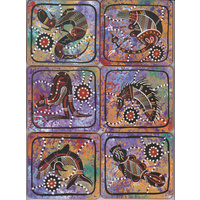 Yagali Aboriginal Art Coaster Set (6) - Linda Williams
