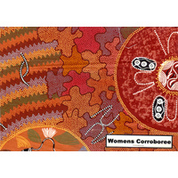 Bulurru Aboriginal Art Napkin Set (4) -  Women's Ceremony