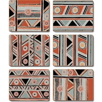 Jijaka Aboriginal Art Cork Giftboxed Placemat Set (6) - Shield