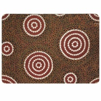 Recycled Aboriginal Placemat/Mouse Pad (1) - Waterhole Dreaming