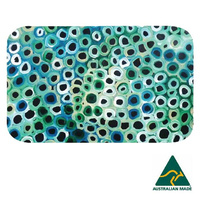 Utopia Aboriginal Art Neoprene Placemat - Soakage (Green)