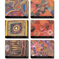 Yijan Aboriginal Art Cork Placemat Set (6) - Dreaming Country/Waterlillies