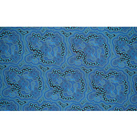Bulurru Aboriginal Art Tablecloth (Small/Supper) - On Walkabout (Blue)