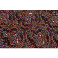 Bulurru Aboriginal Art Tablecloth (Small/Supper) - On Walkabout (Wine)