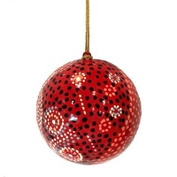 Better World Aboriginal Art Lacquered Xmas Ball Decoration - Seven Sisters