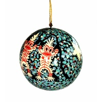 Better World Aboriginal Art Lacquered Xmas Ball Decoration - the Milky Way