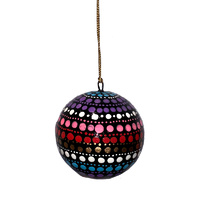 Better World Aboriginal Art Lacquered Xmas Ball Decoration by Olivia Wilson