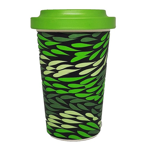 Hogarth Arts Eco Bamboo Reusable Travel Mug (430ml) - Grasslands