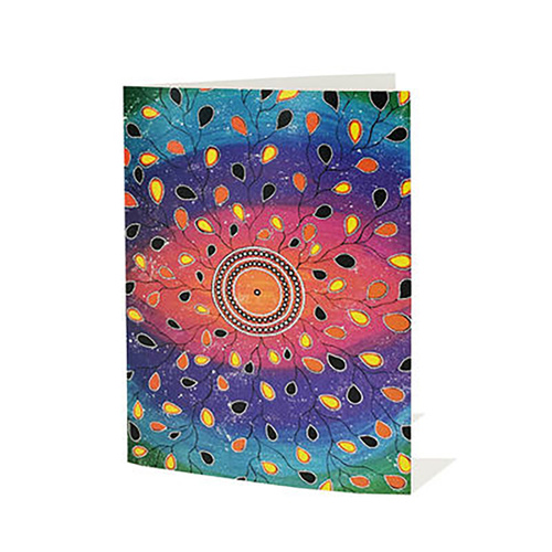 Yindi Artz Aboriginal Art Giftcard & Envelope - Many Aspects of Me