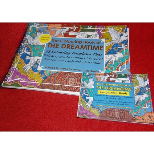 Adult Aboriginal Art Colouring Book of the Dreamtime (2 books)