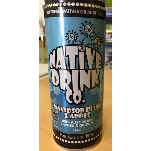 Native Drink Co - Davidson Plum & Apple Sparkling Water - 250ml