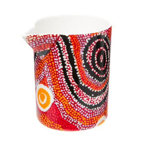 Warlukurlangu Aboriginal Art Fine Bone China Milk Jug/Creamer - Water Dreaming