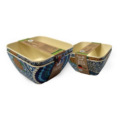 Bunabiri Bamboo Fibre Enviro Bowl (Set 2) - Colours of the Reef