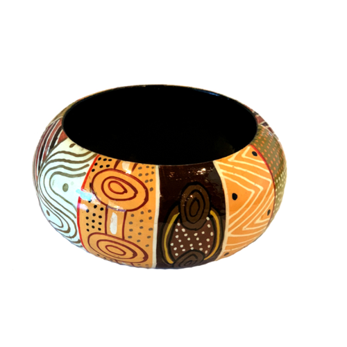 Munupi Aboriginal Art Lacquered Bangle (4cm) - Jilamara Design