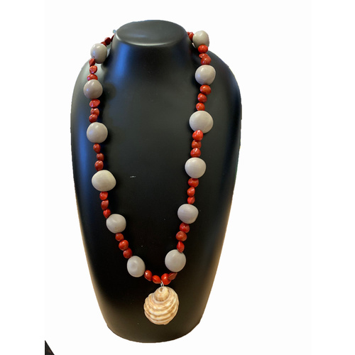 Yangga Art Native Seed Necklace - Cone Shell Pendant