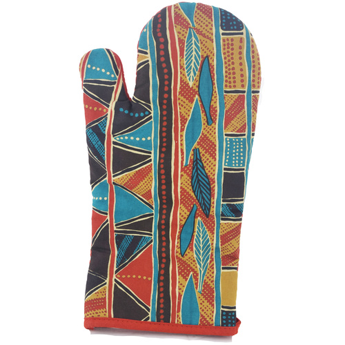 Jijaka Aboriginal Art Oven Glove - Bark