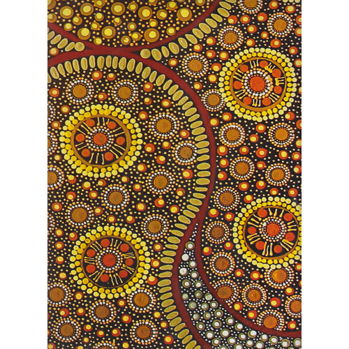 Keringke Aboriginal Art Wrapping Paper by  Deanna Williams