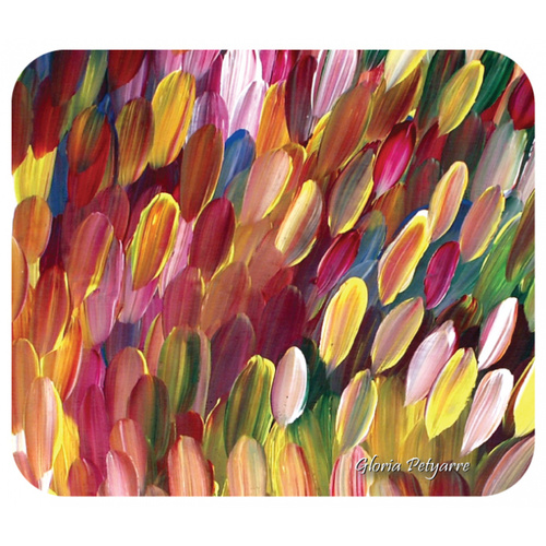 Utopia Aboriginal Art Neoprene Mousepad - Leaves (Multi)