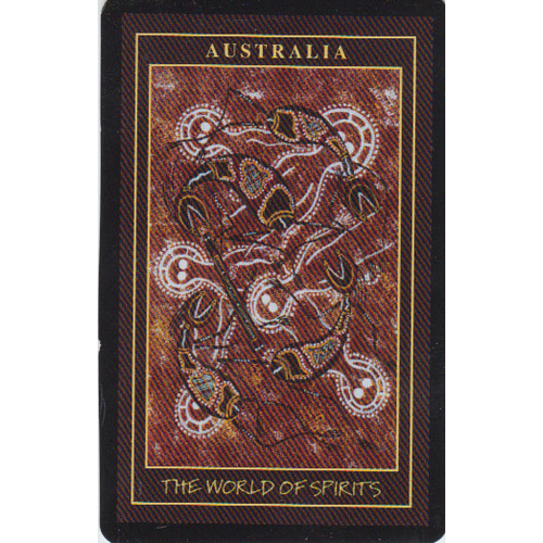 Aboriginal Art Playing Cards with Case - World of Spirits