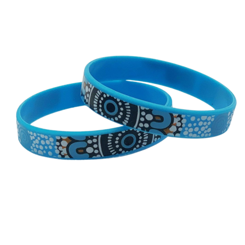 Dezigna Aboriginal Art Silicone Wristbands - Coastal