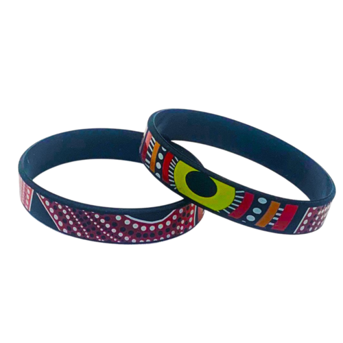 Dezigna Aboriginal Art Silicone Wristbands - Coming Together